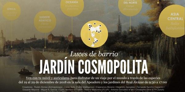 Exposición Luces de barrio 2018 'Jardín Cosmopolita'