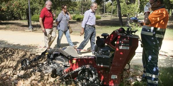 (19/08/2017) Arranca la segunda fase de la instalación del riego automático en el Parque Amate con un presupuesto de 200.000 euros