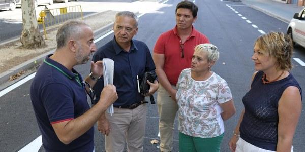 (23/8/2017) El Ayuntamiento reabre al tráfico la Avenida de la Cruz del Campo tras su reurbanización e inicia la repavimentación de Menéndez Pelayo y un plan de mejora de la accesibilidad en Nervión