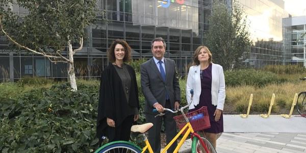 (25/.09/2017) Espadas ofrece a Google la ciudad de Sevilla como laboratorio de soluciones Smart City