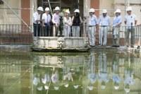 (26/07/2017) El Real Alcázar comienza la restauración del cenador, estanque y jardín del León y tiene en ejecución obras de conservación que superan el millón de euros