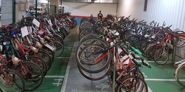 (5/6/2017) La Policía Local organiza una exposición de bicicletas robadas para facilitar su identificación a los propietarios