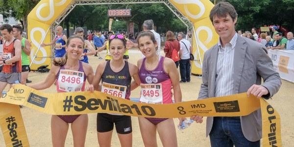 9.000 corredores participan en la Carrera Popular Parque de Miraflores, última prueba del circuito Sevilla10 antes del verano