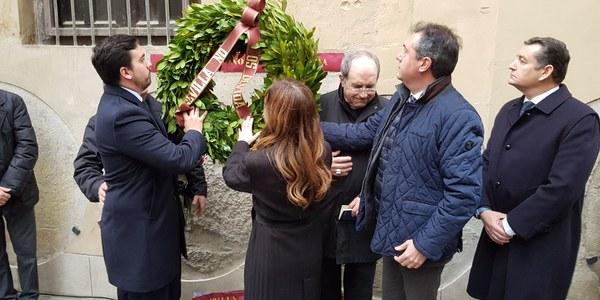 Acto conmemorativo por la muerte de Alberto Jiménez Becerril y Ascensión Ayala