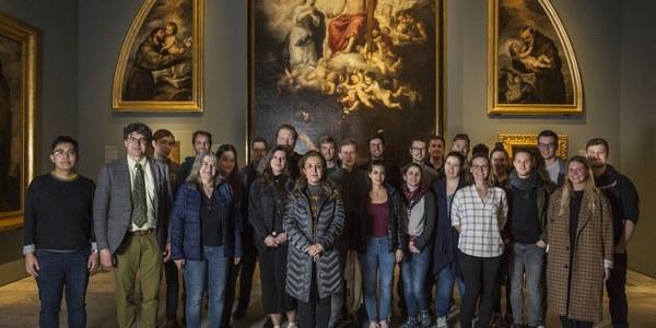 Alumnos de universidades internacionales visitan las exposiciones de Año Murillo en su trimestre más académico