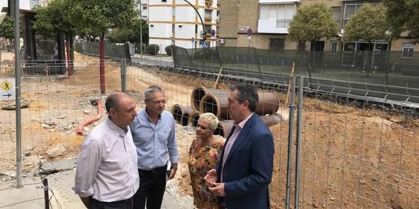 El Ayuntamiento inicia las obras del nuevo sistema de drenaje sostenible y aljibes dentro del proyecto de la Avenida del Greco