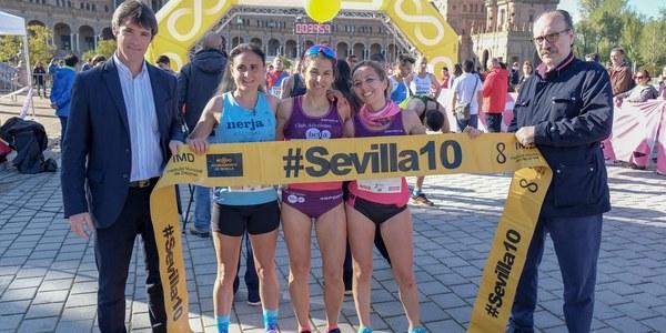 Casi 3.300 escolares entre los 8.500 corredores cobran especial protagonismo en la carrera popular del Parque de María  Luisa del circuito #Sevilla10