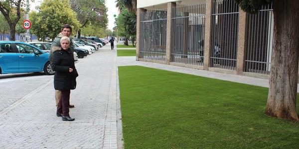 Concluyen las obras para la reurbanización completa y la mejora de la accesibilidad de la calle Éfeso en el Distrito San  Pablo-Santa Justa