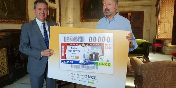 Cupón especial que la ONCE con la imagen del Teatro Lope de Vega