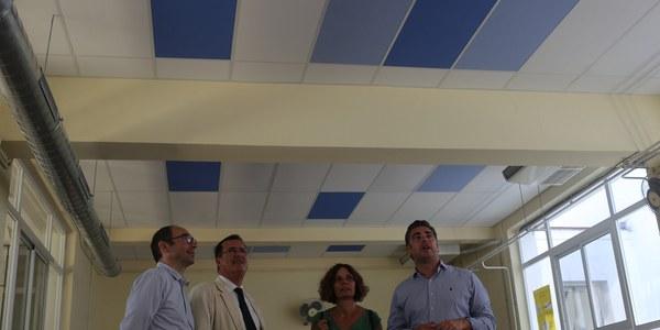 El Ayuntamiento acomete la insonorización del comedor del CEIP Huerta de Santa Marina,  en el Distrito Casco Antiguo