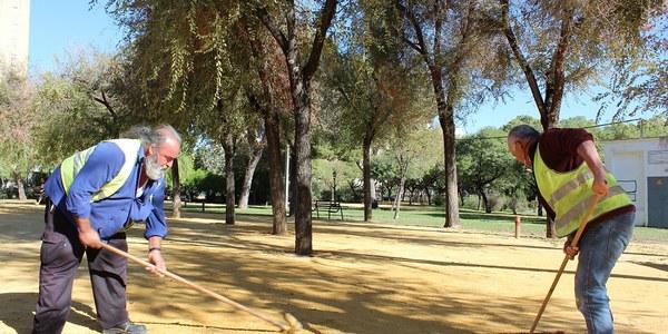 El Ayuntamiento alcanza actuaciones de mejora en el Parque Amate que suman 2 millones de euros de presupuesto en los últimos 2 años tras completar la red de riego y la pavimentación de caminos de albero