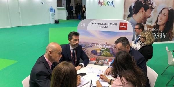 El Ayuntamiento amarra en la ITB  de Berlín la celebración en Sevilla durante dos años consecutivos de la principal bolsa de contratación de alojamientos hoteleros y servicios complementarios de toda Europa