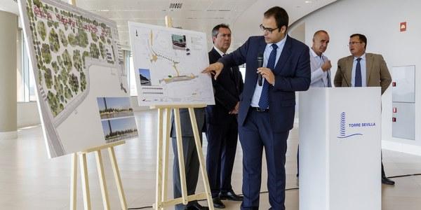 Plan de tráfico en el entorno de Torre Sevilla