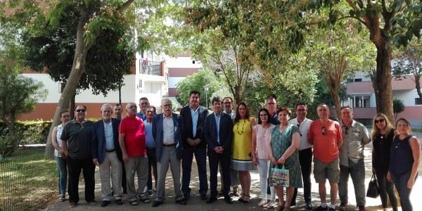 El Ayuntamiento culmina en la barriada de La Oliva del distrito Sur el primer expediente de recepción del arbolado de una zona privada de uso público para mejorar su conservación y mantenimiento