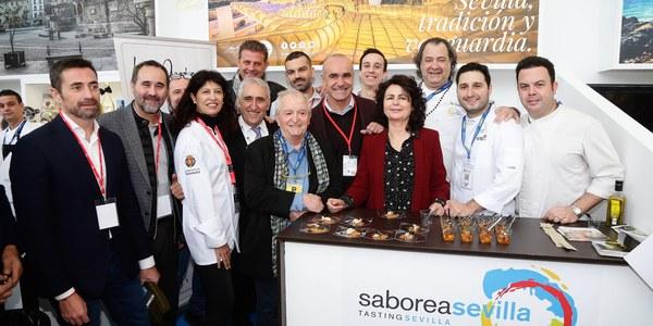 El Ayuntamiento destaca la colaboración público-privada y la unión entre cocina y agroindustria  en la promoción de Sevilla como destino gastronómico en Madrid Fusión-Saborea España