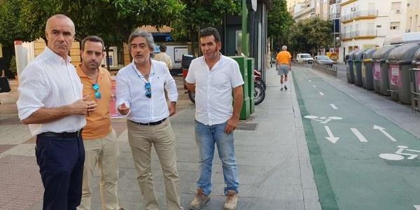 El Ayuntamiento ejecuta 50.000 euros en mejoras en los carriles bici de la ciudad durante el verano a través del nuevo contrato de conservación