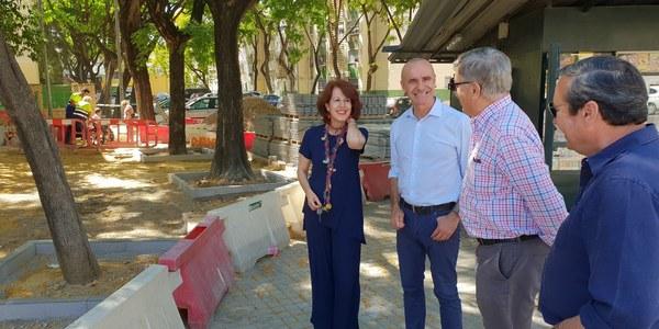 El Ayuntamiento ejecuta nuevas inversiones en viales del Polígono Sur dentro de la estrategia de mejora de los barrios y de eliminación de barreras arquitectónicas