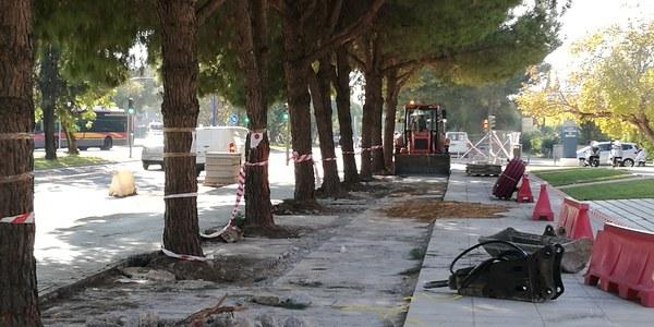 El Ayuntamiento ejecuta obras de mejora en el acerado de la calle Inca Garcilaso con un presupuesto de 119.000 euros dentro del paquete de inversiones previsto en Cart
