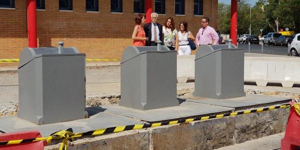 El Ayuntamiento ejecuta una nueva inversión en el Polígono Sur que permitirá la puesta en marcha del sistema de contenedores soterrados