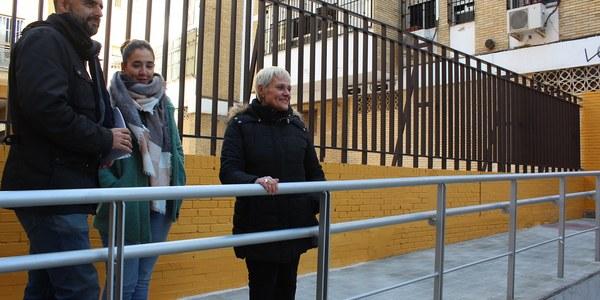 El Ayuntamiento finaliza la intervención en la zona peatonal de Marqués de Nervión para garantizar la accesibilidad de personas y de vehículos de emergencia