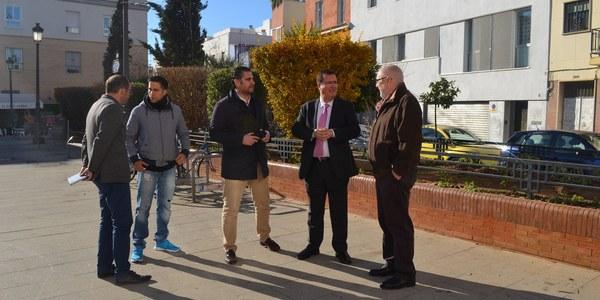 El Ayuntamiento finaliza las obras de mejora en la Plaza José Luis Vila del Distrito Casco Antiguo ante las roturas y el mal estado que presentaban algunos de sus  elementos
