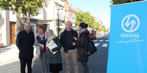 El Ayuntamiento finaliza las obras de sustitución de redes y reurbanización de la calle Mariano Benlliure del Distrito Nervión con una inversión de 454.218 euros