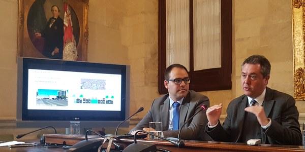 El Ayuntamiento impulsa la ampliación del Metrocentro hasta Santa Justa por San Francisco Javier y Luis de Morales con el objetivo de llegar a los 3,5 millones de viajeros