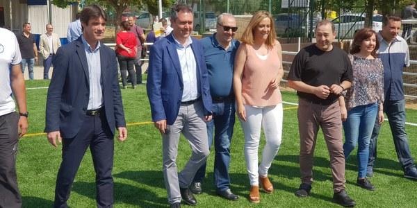 El Ayuntamiento inaugura el nuevo campo de césped artificial del CD Los Mares dentro de la inversión de casi 2,5 millones de euros para instalaciones deportivas