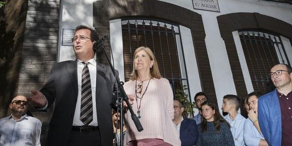 El Ayuntamiento inaugura la nueva denominación de la calle Doctor Jesús Vida, en el Distrito Casco Antiguo