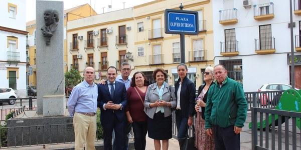 El Ayuntamiento inaugura la Plaza Oliver de Triana como homenaje a quien fuera uno de los cantaores más reconocidos del  barrio de Triana