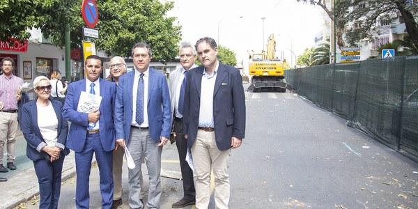 El Ayuntamiento inicia el proyecto de transformación integral de la Avenida del Greco en San Pablo con nuevos pavimentos, más arbolado, zonas de agua, áreas de juego, accesibilidad, itinerarios peatonales y mejoras en materia de movilidad