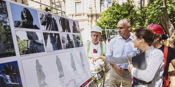 El Ayuntamiento inicia la restauración y limpieza integral del monumento a Murillo de la Plaza del Museo
