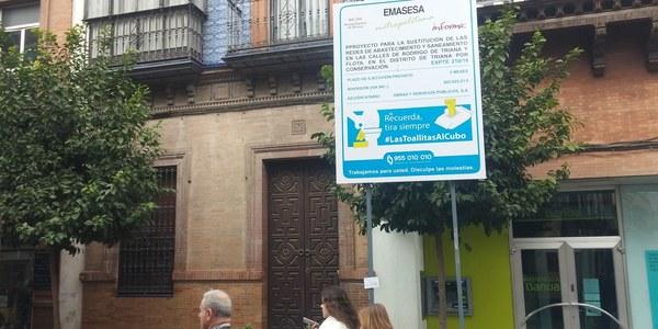 El Ayuntamiento inicia mañana las obras de reurbanización de las calles Rodrigo de Triana, Flota y Plazuela de Santa Ana
