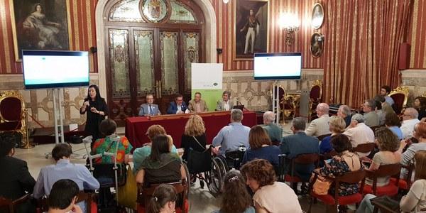 El Ayuntamiento pone en marcha el primer Plan de accesibilidad, un programa que se inicia con 110 inversiones este verano para la eliminación de barreras arquitectónicas y una estrategia de adecuación de parques infantiles y paradas de Tussam