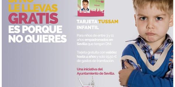 El Ayuntamiento pone en marcha la tarjeta que permitirá el uso gratuito de las líneas de Tussam  para los menores de 12 años