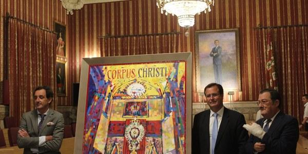 El Ayuntamiento presenta el cartel del Corpus Christi de 2018, una obra del pintor José María Jiménez Pérez-Cerezal de estilo postimpresionista