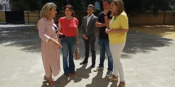 El Ayuntamiento realiza obras de mejora en el colegio Buenavista de San Jerónimo por cerca de 95.000 euros