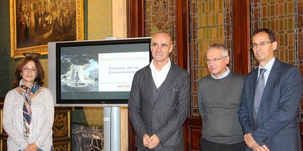 El Ayuntamiento restaurará la fuente de la Encarnación e implantará un proyecto piloto de desinfección del agua más eficiente y sostenible a través de rayos ultravioleta