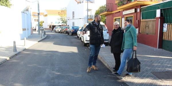 El Distrito Nervión culmina el proyecto de mejora en la calzada de varias calles de Ciudad Jardín  incluido en el programa participativo 'Mejora tu Barrio'