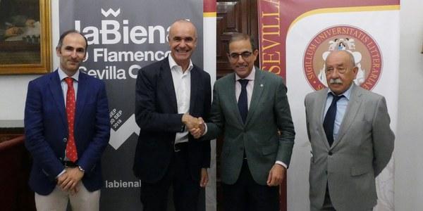 El ICAS y la Universidad de Sevilla firman un convenio de colaboración para la organización de diversas actividades en la XX Bienal de Flamenco