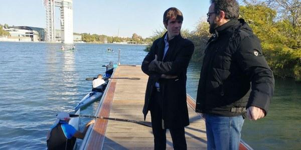 El IMD instala un nuevo pantalán para permitir el acceso al río de los deportistas de los clubes de actividades náuticas