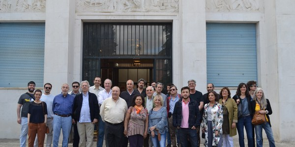 El proceso de participación para la recuperación del complejo  de la fábrica de tabacos se inicia con una jornada de  visita guiada a asociaciones