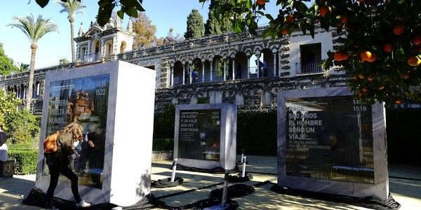 El Real Alcázar de Sevilla acoge  la muestra 'El sueño. De la idea al proyecto' dentro de los actos de conmemoración del V centenario de la primera vuelta al mundo
