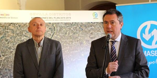 Emasesa programa 60 millones de euros de inversiones en 57 proyectos en todos los distritos durante 2018