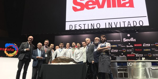 Espadas reivindica la tapa como seña de identidad de la gastronomía sevillana en el congreso Madrid Fusión-Saborea España