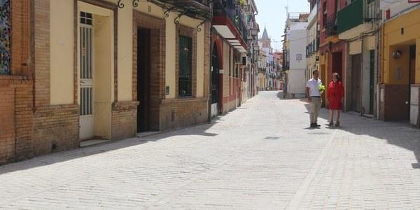 Finaliza la reurbanización de Rodrigo de Triana