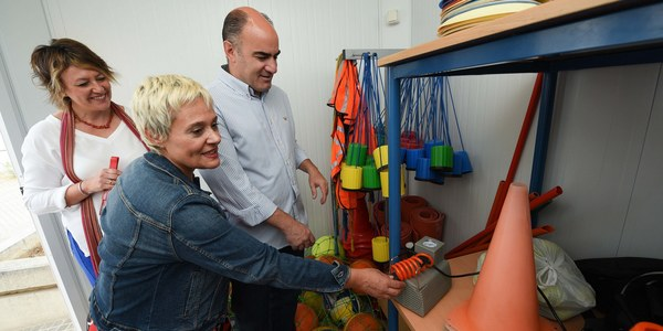 Finalización de las obras de instalación de un módulo para uso deportivo en el CEIP Cruz del Campo del Distrito Nervión