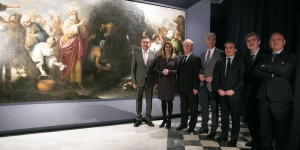 Inaugurada la muestra que exhibe los dos grandes Murillos restaurados por el IAPH del Hospital de La Caridad