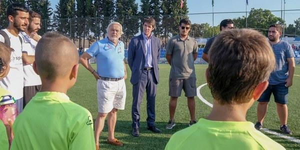 Inaugurado el nuevo campo de césped artificial del Centro Deportivo Antonio Puerta