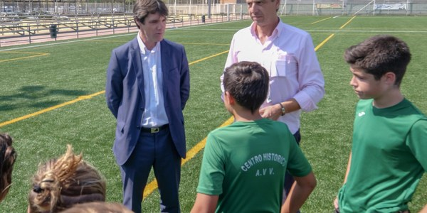 Inaugurado el nuevo campo de césped artificial del Centro Deportivo Santa Justa